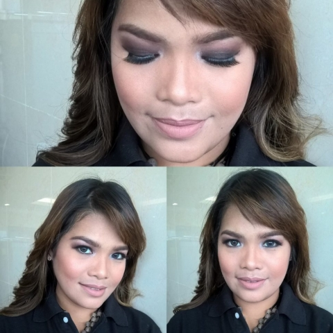 nude lipstick, smokey eye look, evening look, angel bach artistry, makeup artist