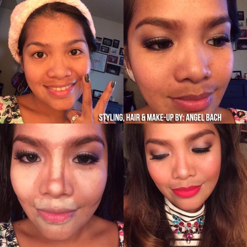 Smokey Eye, date night look, contouring, crystal necklace