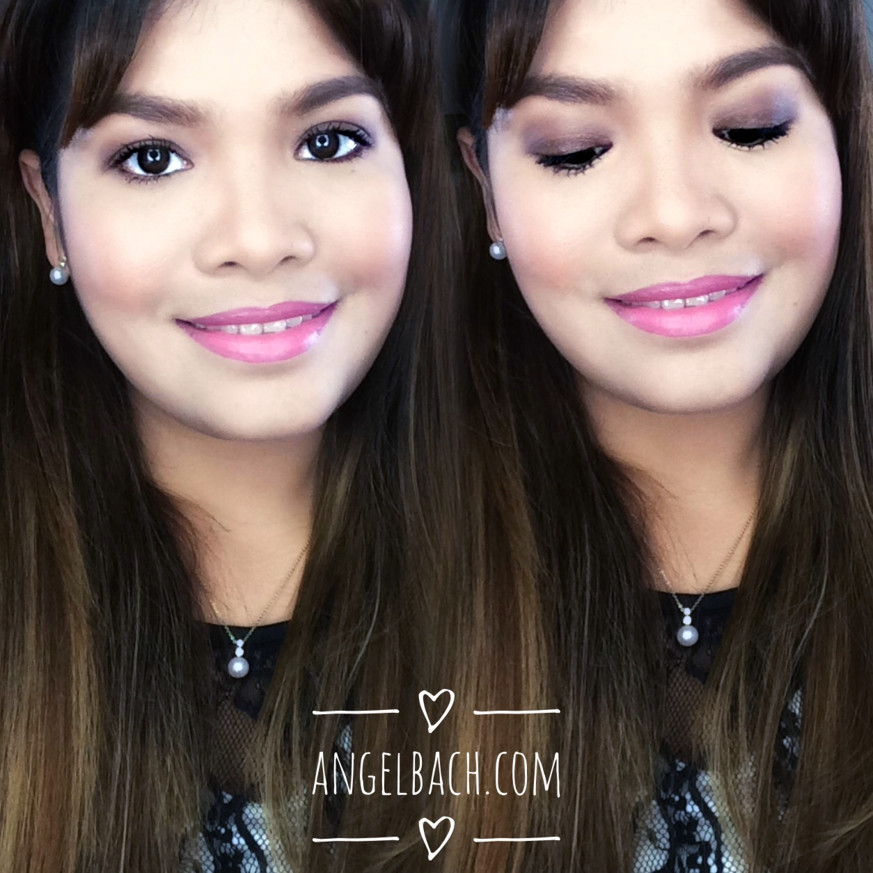 day look, soft brown shade, pink lipstick, 30 mins make up, angel bach artistry, soft shade