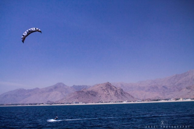 Dibba, Oman, Landscape, Kite Surfing, Rock Mountains, Sailing