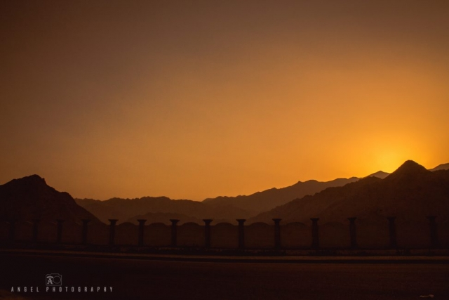 Dibba, Oman, Landscape, Rock Mountain, Sunset