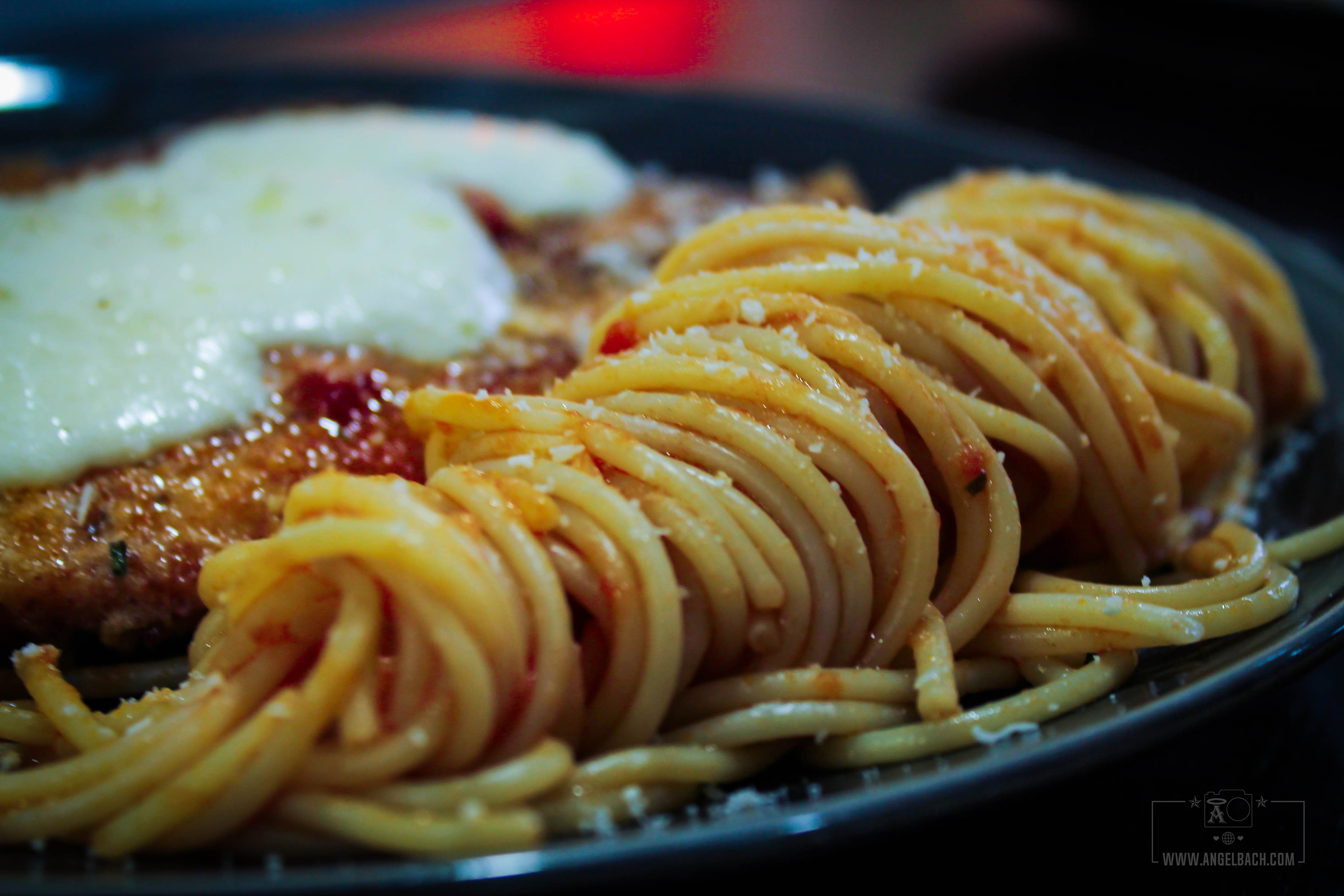 Breaded Chicken spaghetti, melted mozarella, Chef Esben, Dinner, Husband's cooked