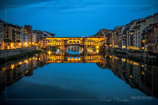 Night Photography, Long Exposure, Cityscape, Landscape,Florence, Bridge, Tourist Attraction, Lights, Ancient place, Arno River, Tuscany, Ponte Vecchio, Italy