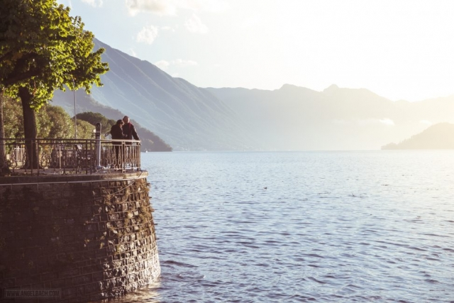 Landscape, Lake Como, Nature, houses over the mountain, Italy, Bellagio, Moutain Sunset, Lovers