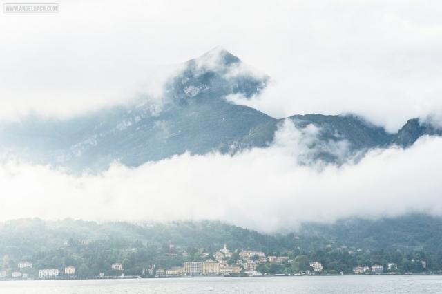 Landscape, Lake Como, Nature, houses over the mountain, Sailing, Italy, Bellagio