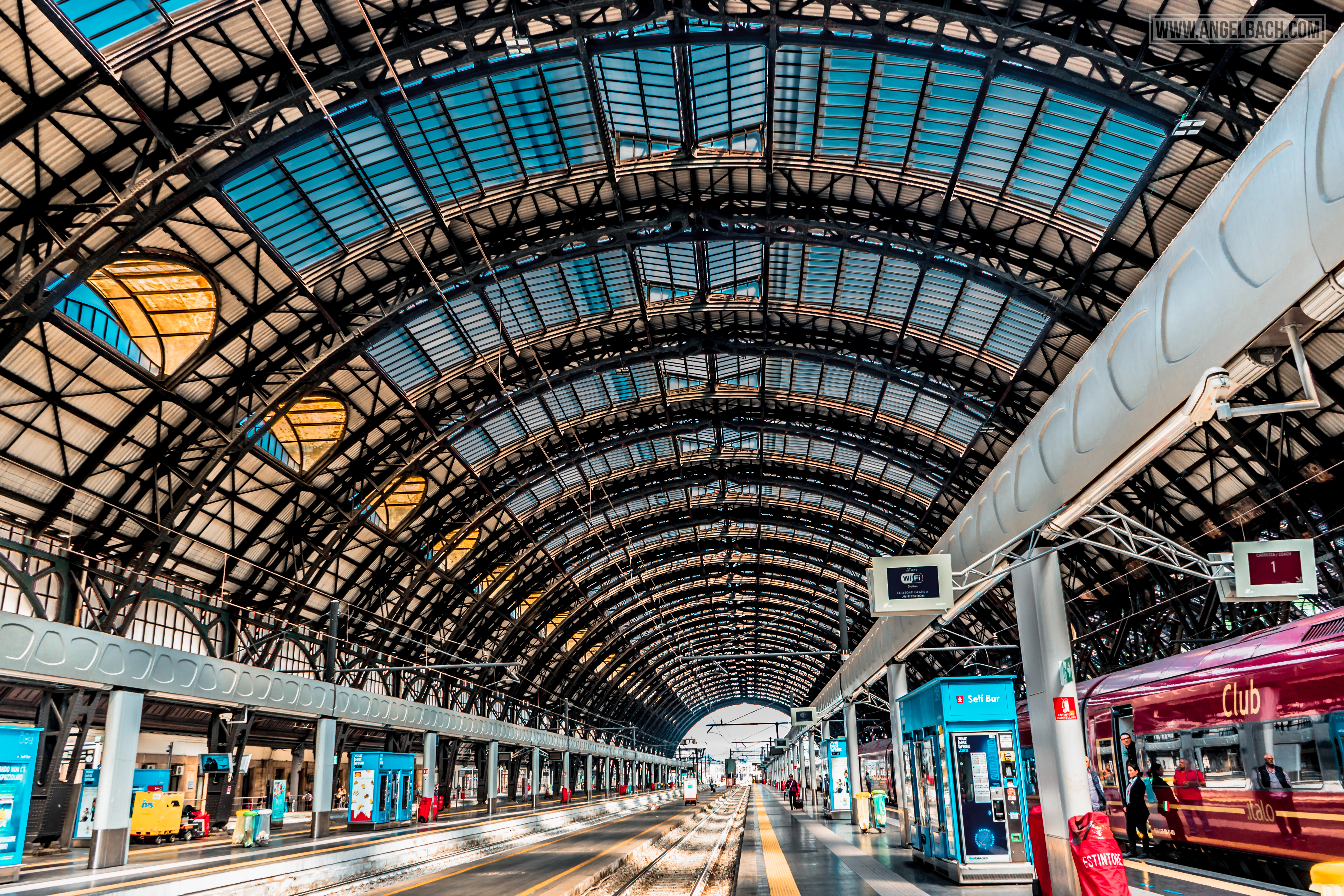 Milan, Milan Train Central Station, Leading lines, Photography, Roof, Italy, Cityscape