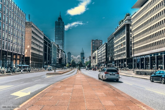 Milan, Leading lines, photography, Buildings, Architecture, street