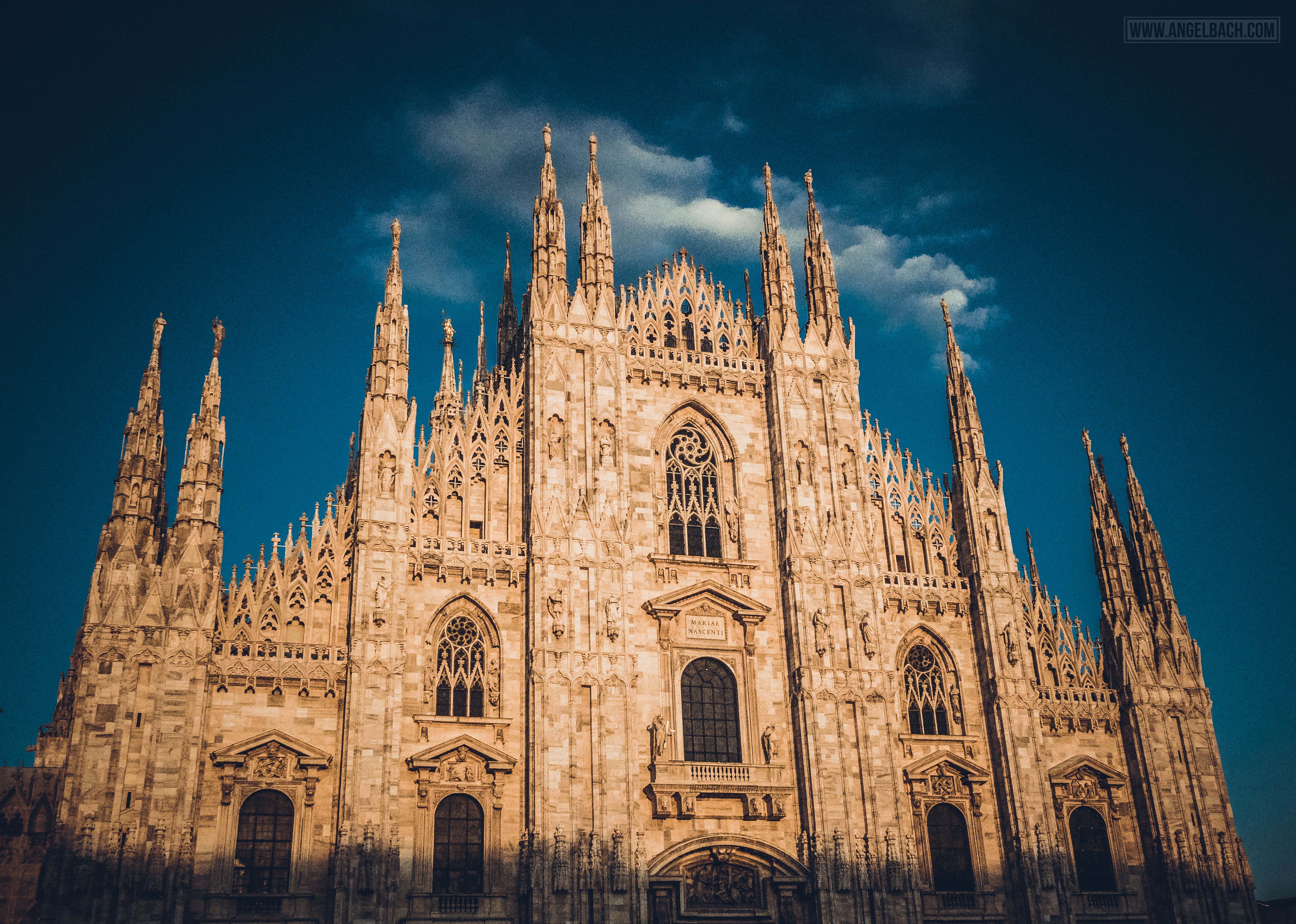 Milan, Duomo Cathedral, Church, Architecure, Photography, Sunset, Front View