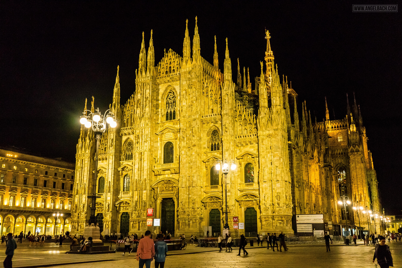 Milan, Duomo Cathedral, Church, Architecure, Photography, Night Time, Duomo night photo