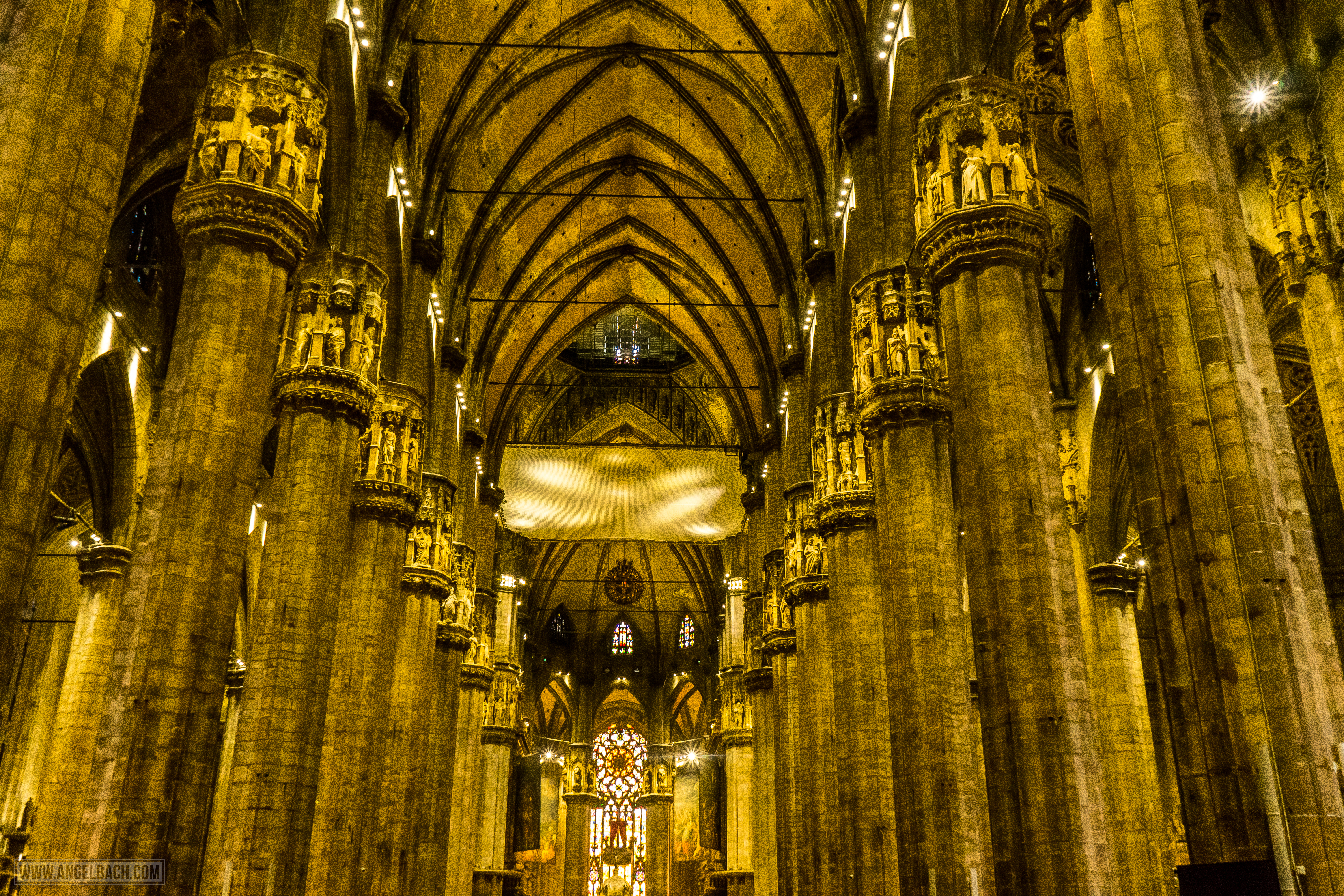 Milan, Duomo Cathedral, Church, Architecure, Photography, Vertical Lines,