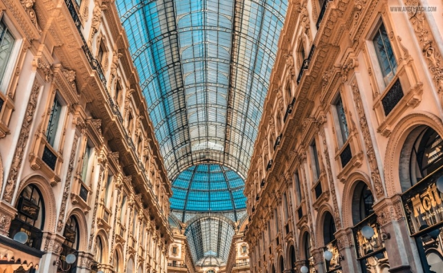 Galleria Vittorio Emanuele II, Milan, Mall, Shopping, Architecture, Cityscape, Building, leading lines