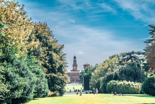 Milan Park, Nature, Palace, Photography, cityscape, Italy
