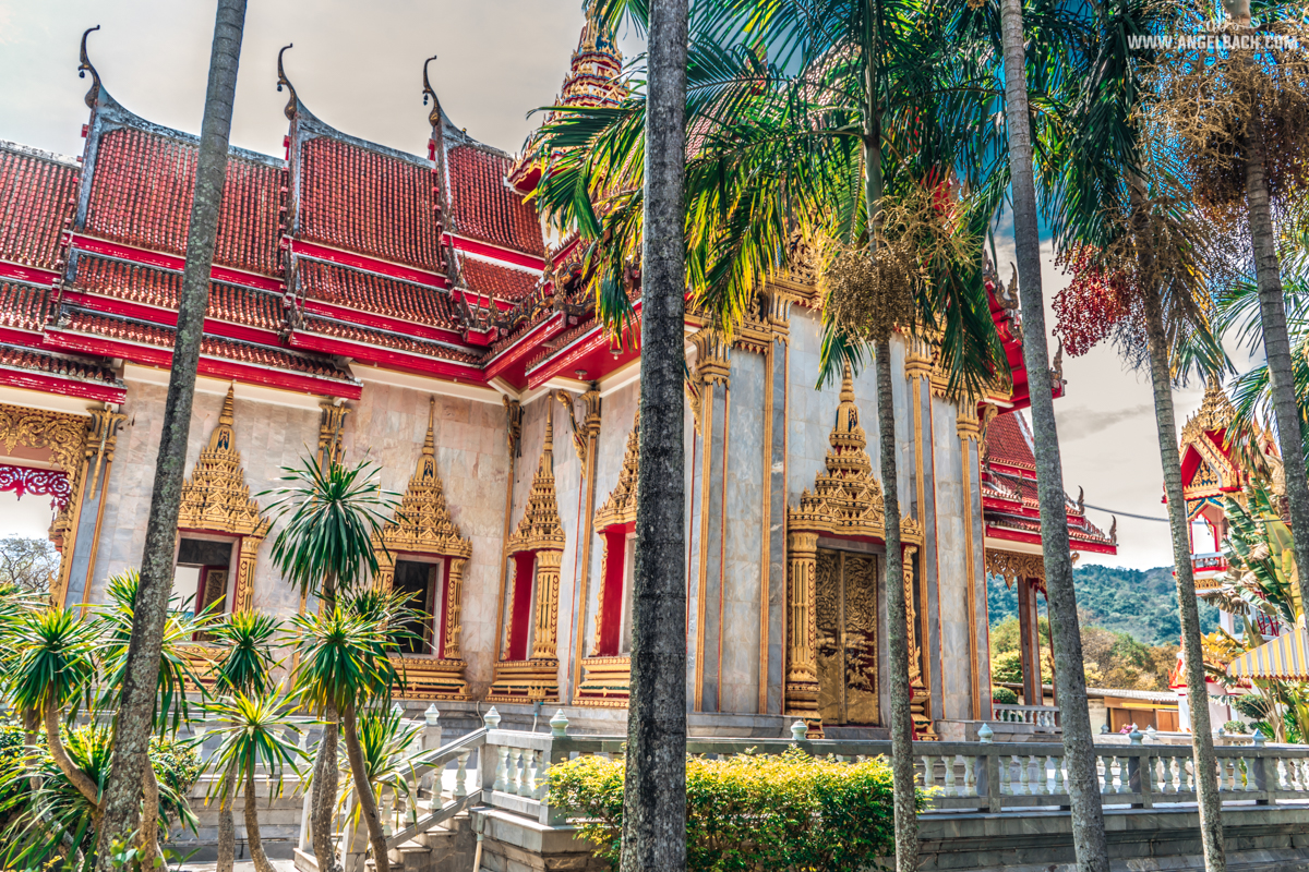 Wat Chalong Temple, Chalong Bay, Phuket, Photography, Buddha Temple, Buddhism HDR Photography