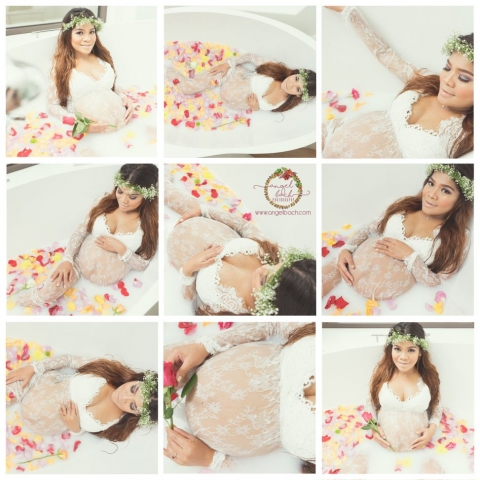 Milk Bath, Rose Bath,  Maternity Photoshoot, Pregnancy, 34 weeks pregnant, pinay mom, Fairy pregnant, Flower crown, Beautiful Pregnant, Photography, pregnancy glow