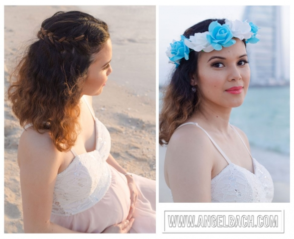 Braided Hair, Maternity Shoot Make-up, Maternity Look, Brown Eyesdahow Shade, Pink Lipstick, Natural Look, 30 mins Make-up Look
