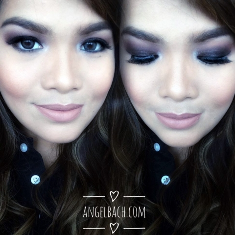 nude lipstick, smokey eye look, evening look, angel bach artistry, makeup artist