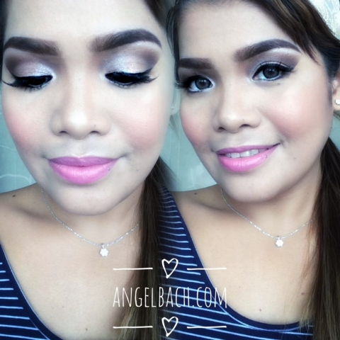 Bridal look, soft glam, day make up, asian bride, champagne eye look, pink lipstick, angel bach artistry, make up artist