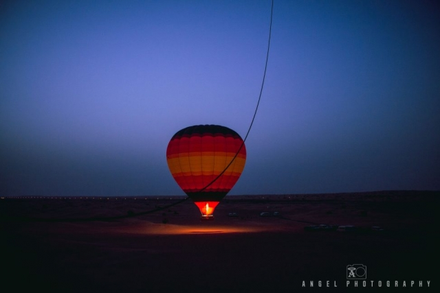 Hot Air Balloon Dubai, Dawn, Fire, Adventures, Desert Balloon