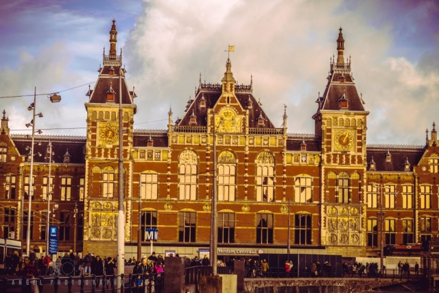 Amsterdam, Vintage building, Street Photography, Netherlands, Day tour in Amsterdam, Amsterdam Central, Train Station