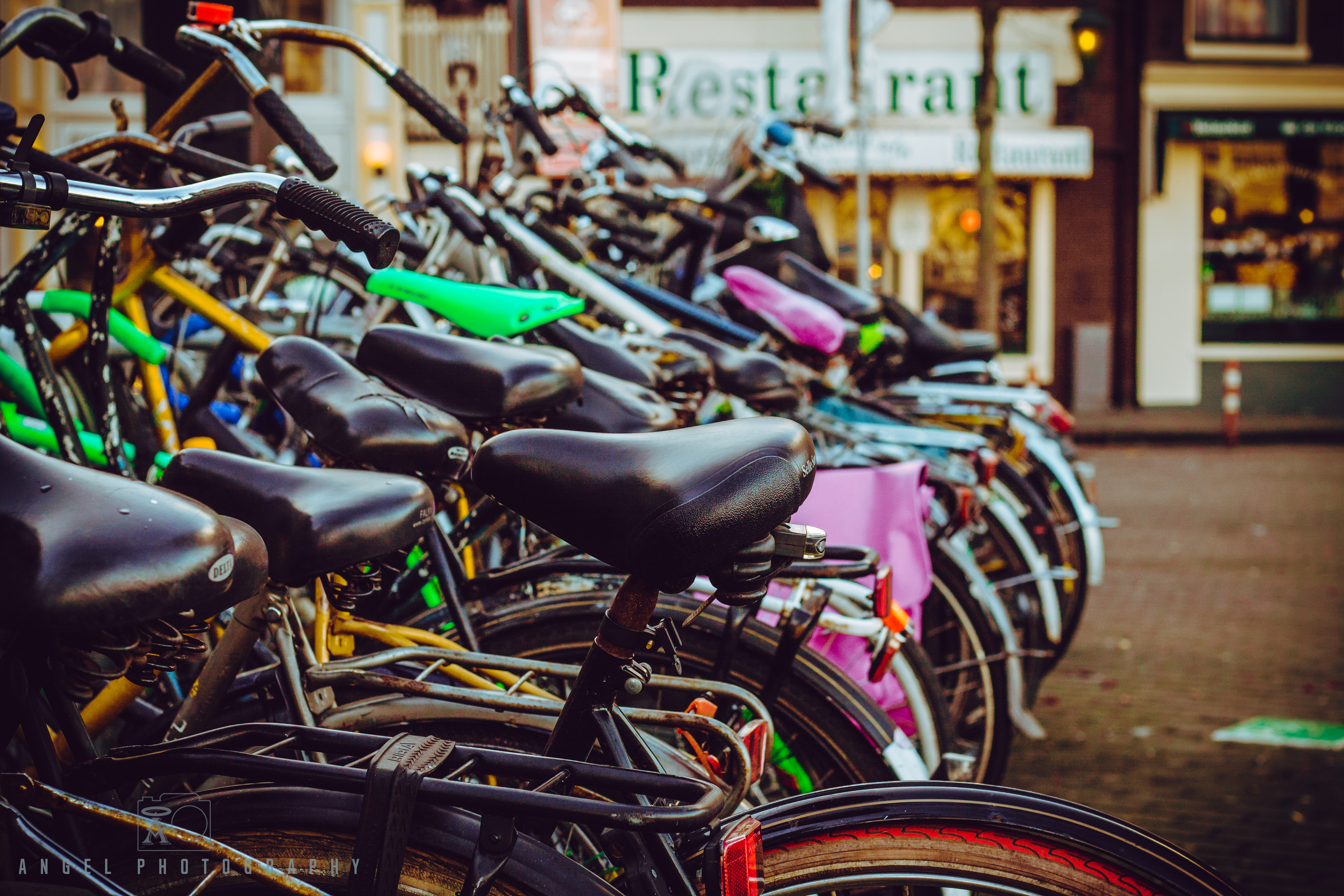 Amsterdam, Vintage building, Street Photography, Netherlands, Day tour in Amsterdam, Bicycle Parking