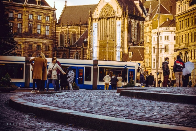 Amsterdam, Vintage building, Street Photography, Netherlands, Day tour in Amsterdam, Tourist in Amsterdam, Winter time, Tram in Amsterdam