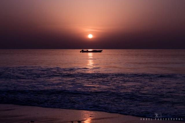 Dibba, Oman, Landscape, Sunrise, Red Hour