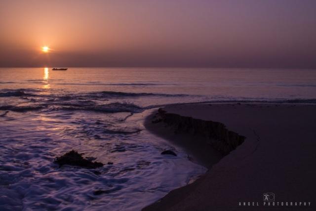 Dibba, Oman, Landscape, Sunrise, Red Hour, Seashore