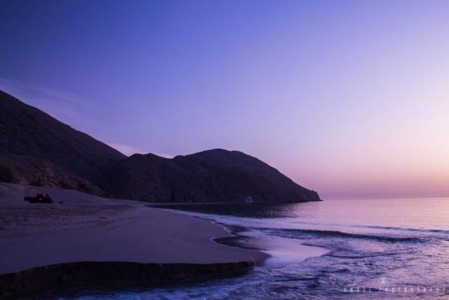 Dibba, Oman, Landscape, Sunrise, Red to Blue Hour, Seashore