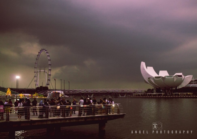 Singapore Flyer, Tourists in Singapore, Sunset Tour in Singapore, Singapore Cityscape