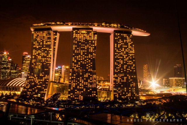 Marina bay sands, Night in Singapore, Singapre cityscape