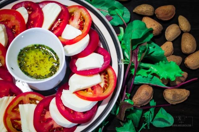 Chef Esben, Appetizer, tomato mozarella, home cooked