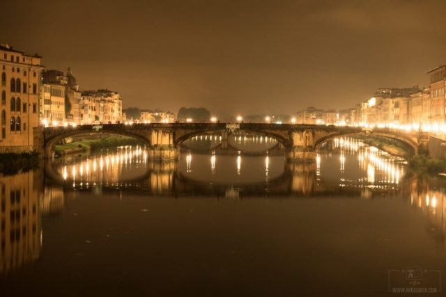 Night Photography, Long Exposure, Cityscape, Landscape,Florence, Bridge, River, Tourist Attraction, Lights, Ancient place, Arno River, Tuscany, Ponte Vecchio, Italy
