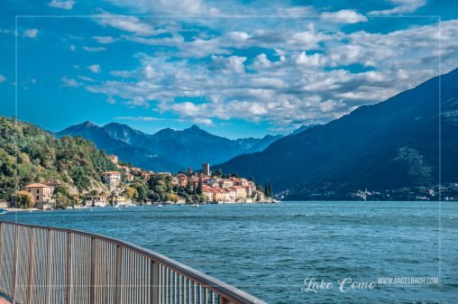 Landscape, Lake Como, Nature, houses over the mountain, Sailing, Italy, Bellagio