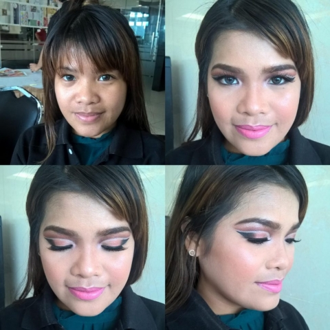 Double cutcrease, Arabic makeup look, Angel Bach artistry, Makeup Tutorial, Pinay Makeup Artist, Evening Look, Party Look, Copper Eyeshadow, Pink Lipstick