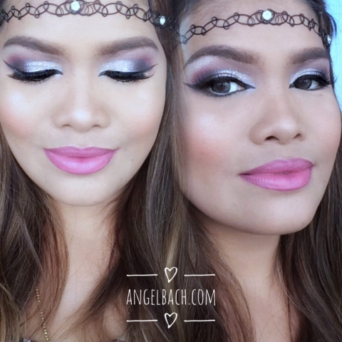 Half Cutcrease, Arabic Makeup Look, Pink Silver Eyeshadow, Party Look, Pink Lipstick, Makeup Tutorial, Pinay Makeup Artist