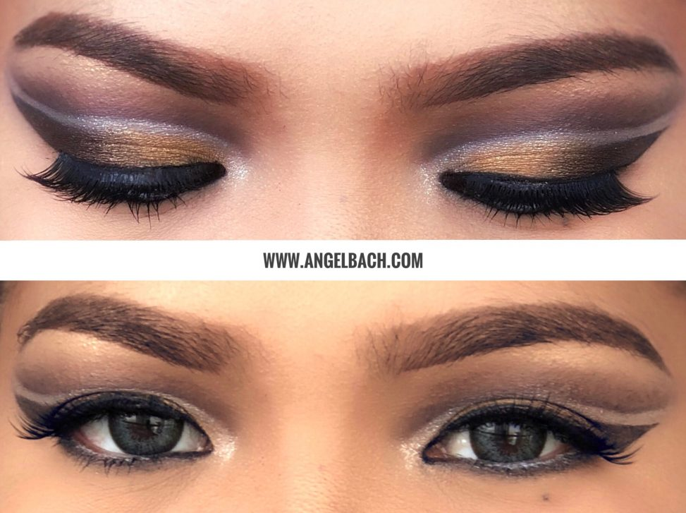 Double cutcrease, Arabic makeup look, Angel Bach artistry, Makeup Tutorial, Pinay Makeup Artist, Evening Look, Party Look, Purple Gold Eyeshadow