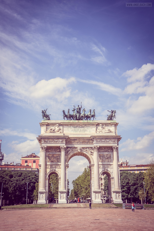 Porta Sempione, Milan, Ancient Gate, Italy, Architecture, cloudscape, cityscape
