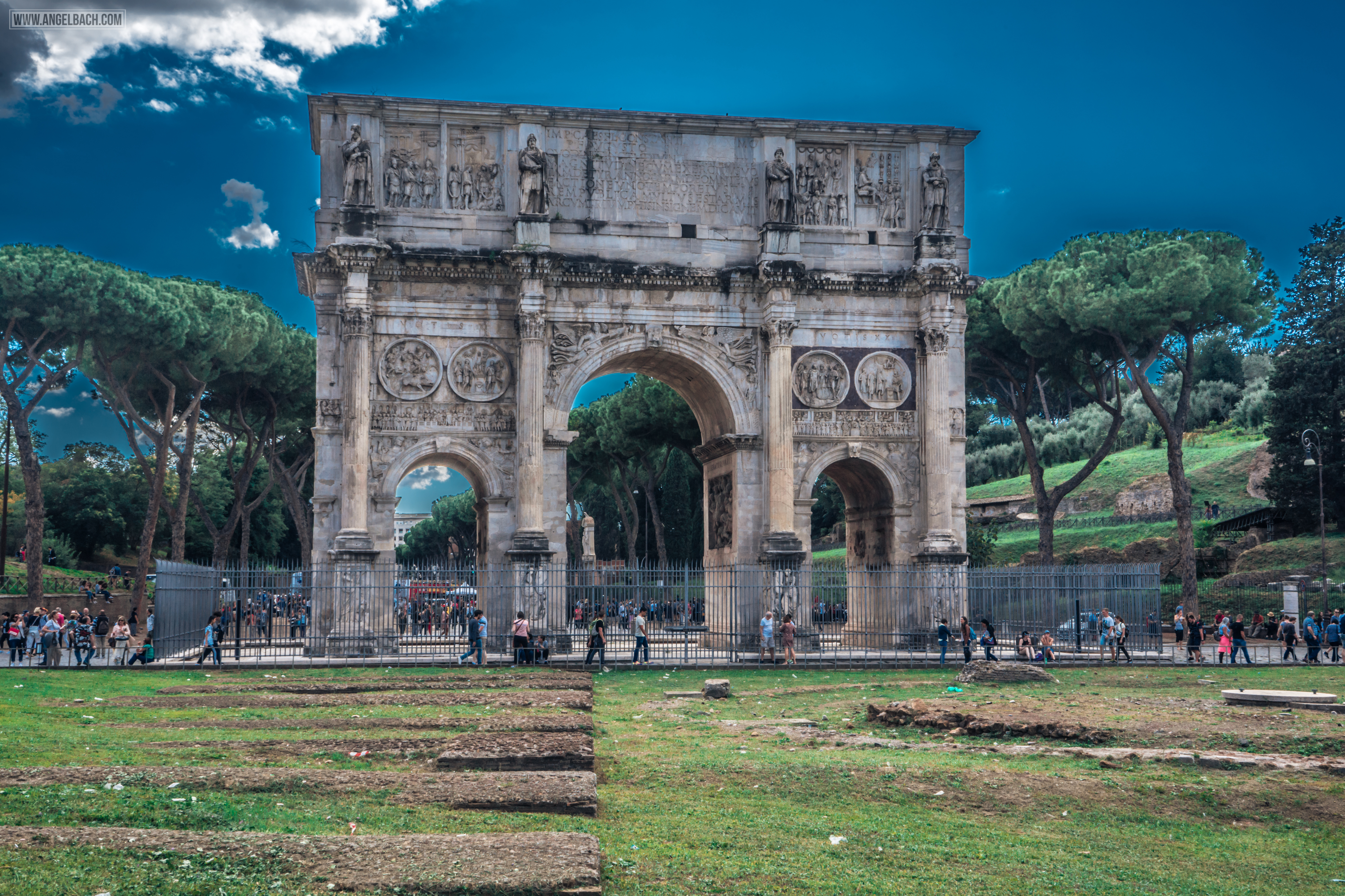Rome, Cityscape, Leading lines, Street photography, Architecture Photography, Arch of Constantine