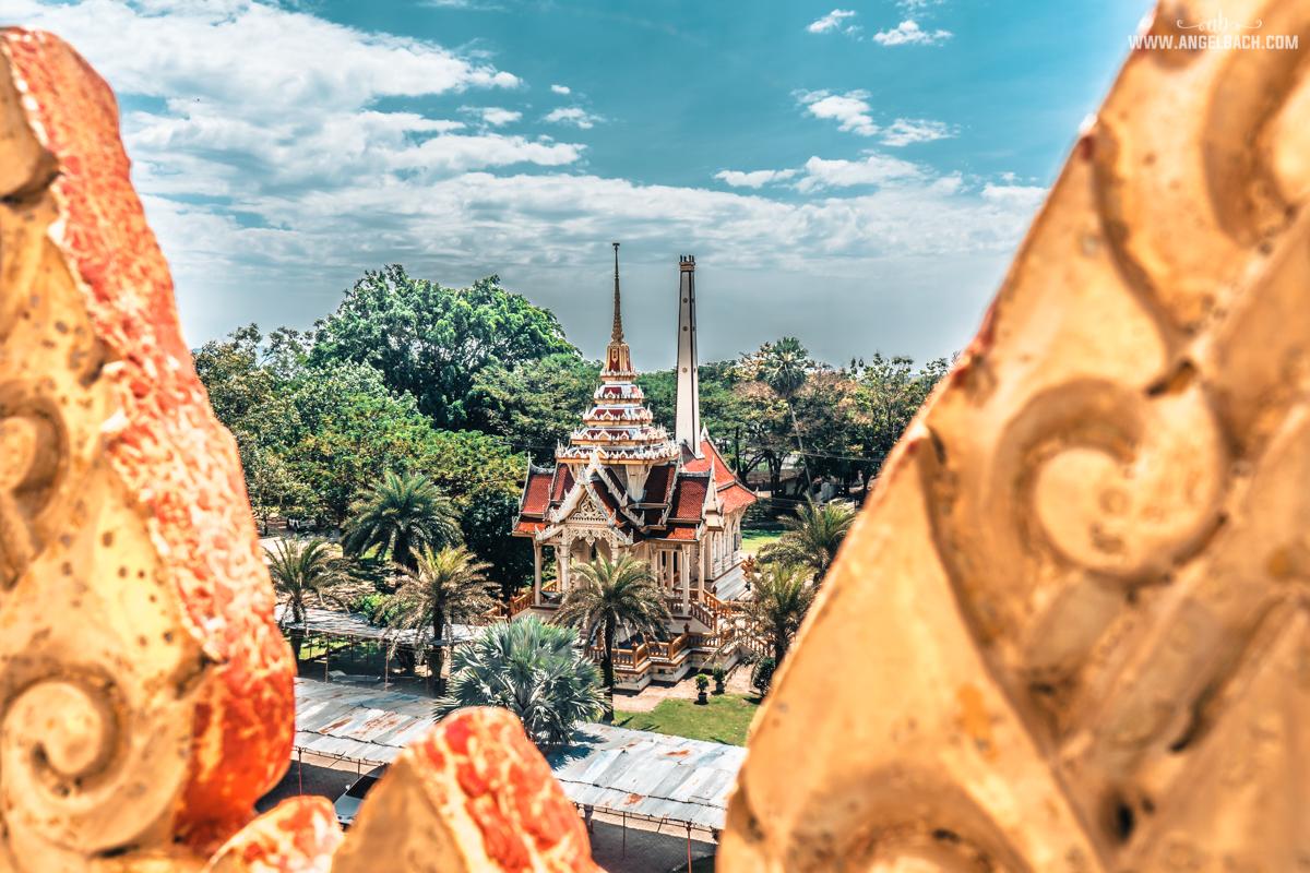Wat Chalong Temple, Chalong Bay, Phuket, Photography, Buddha Temple, Buddhism HDR Photography